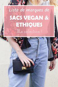 marques de sacs vegan et ethique selection