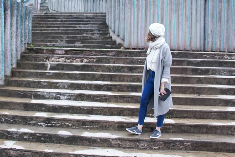 look automne hiver vegan basket grise 2