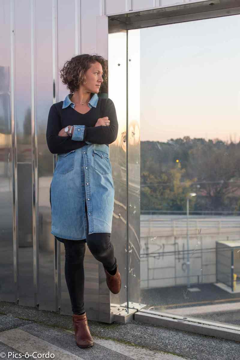 customisation de chemise en jean