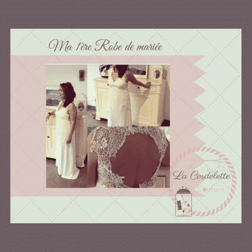 Robe de mariée n°1 terminée