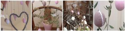 Farfalle e Uova in Tessuto