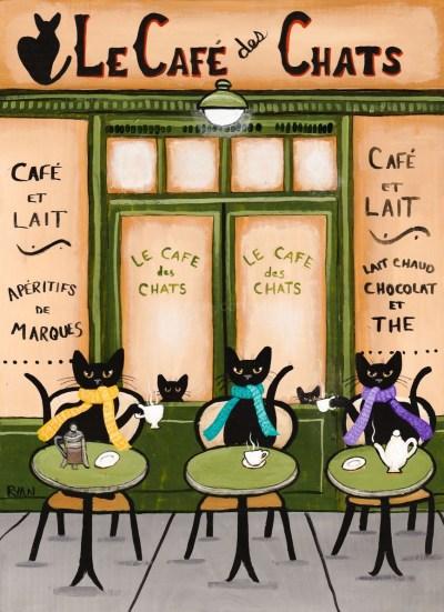 Immagine gatti al bar