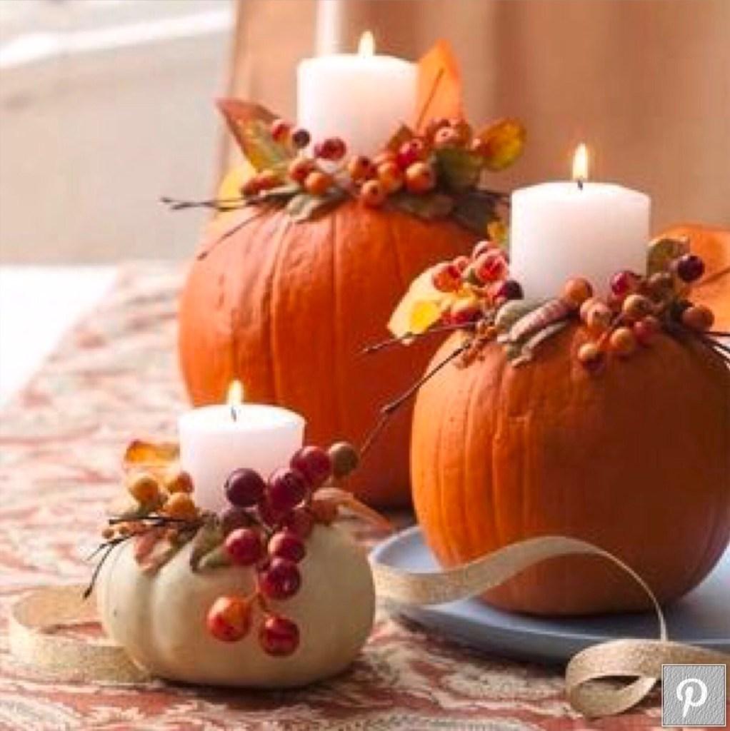Pumpkin as flower container
