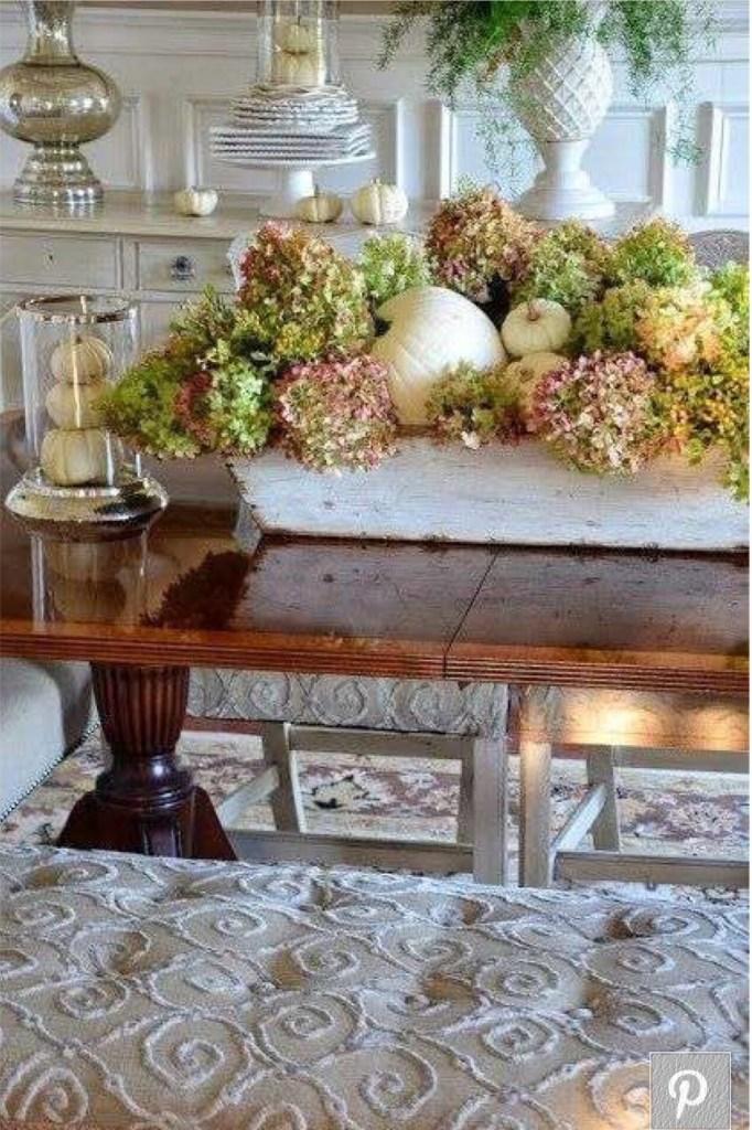 Flower Arrangement with pumpkins