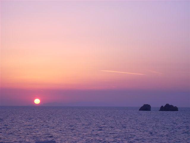 Puesta de sol en el Egeo