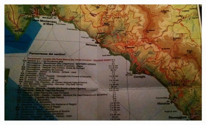 Mapa de Cinque Terre