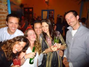 De fiesta en Sao Paulo con los nuevos amigos que hice en el hostel