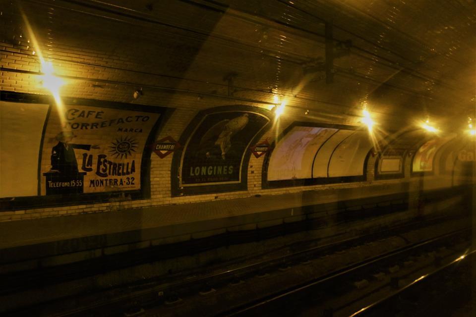 Estación fantasma de Chamberí, metro de Madrid