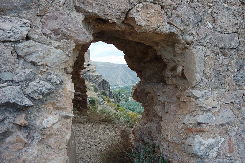 Entrada al castillo de Soraya, Mondújar