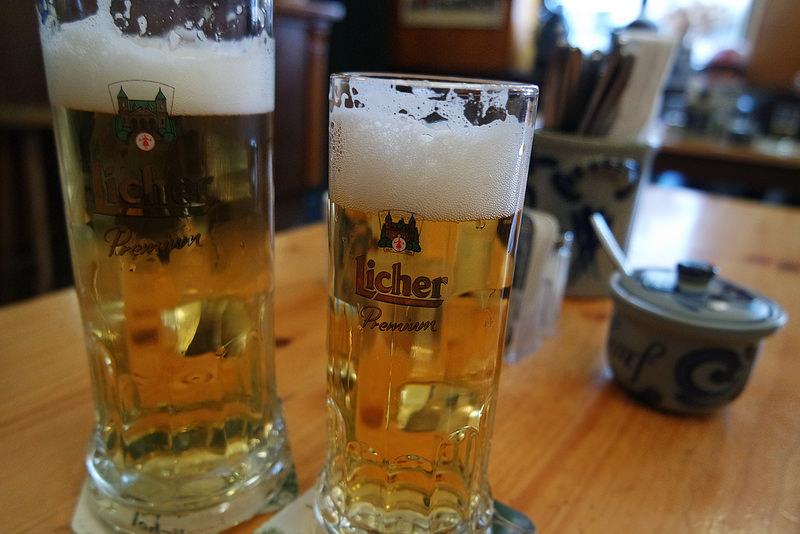 Cervezas en Frankfurt