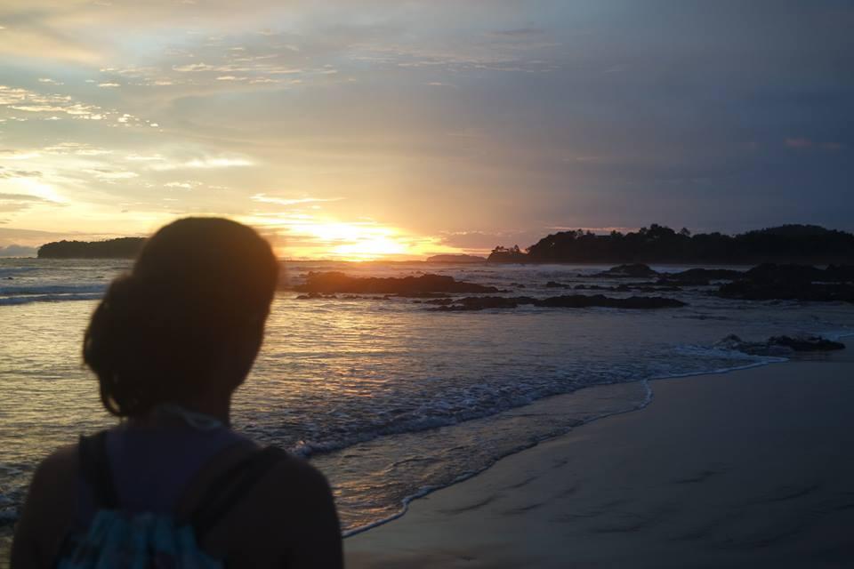 Puesta de sol en el Pacífico