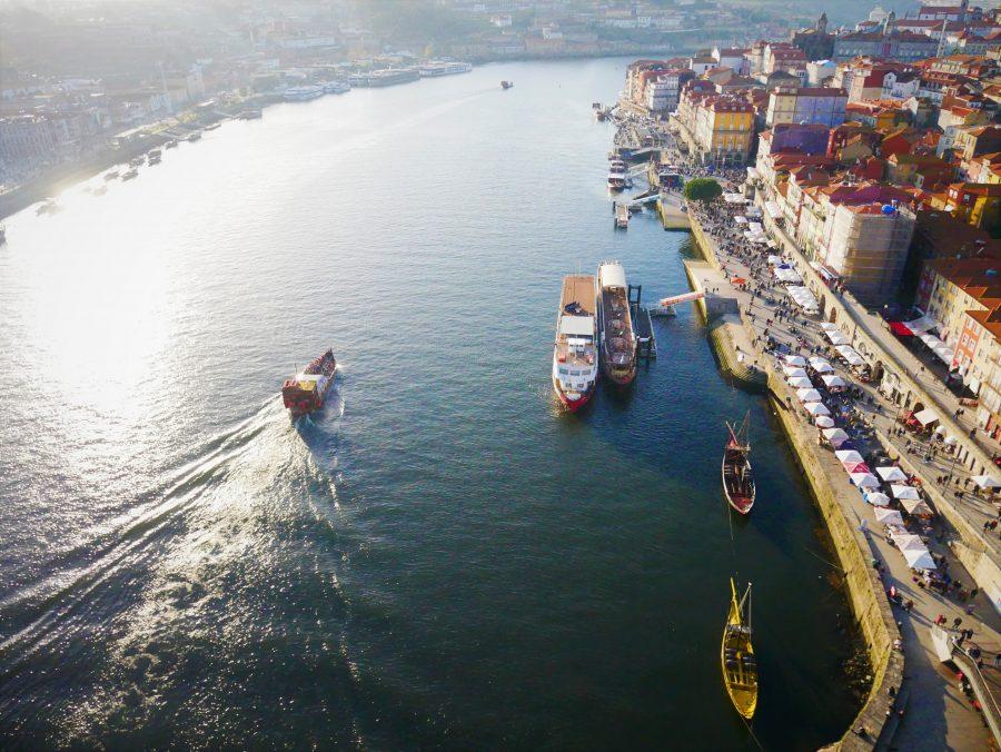Vistas de Oporto desde el puente de Luis I