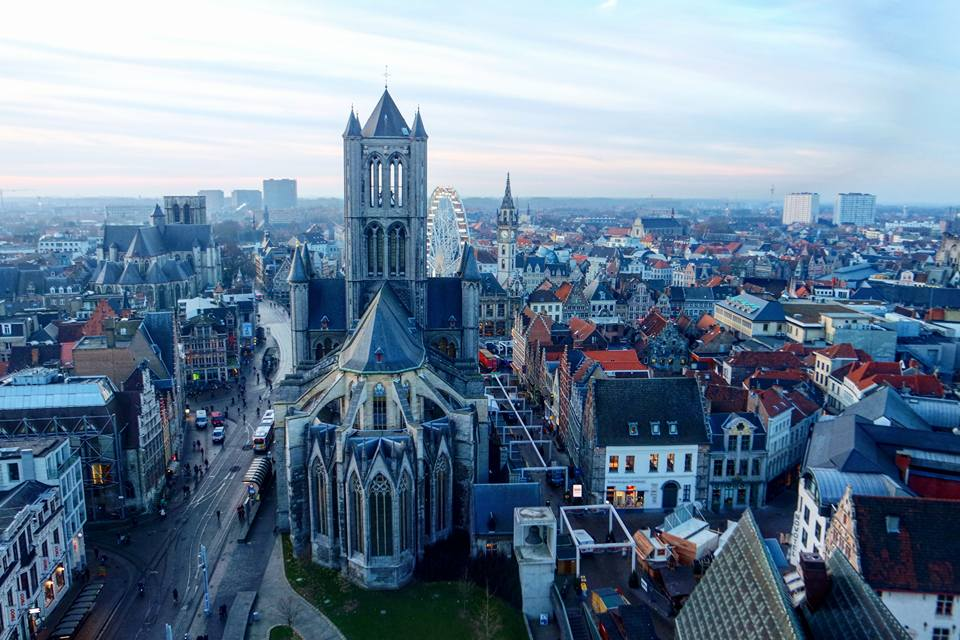 Catedral de Gante desde el Belfort