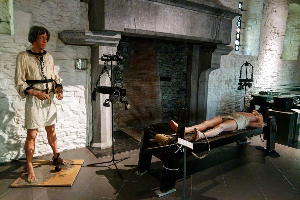 Sala de la tortura, castillo de Gante