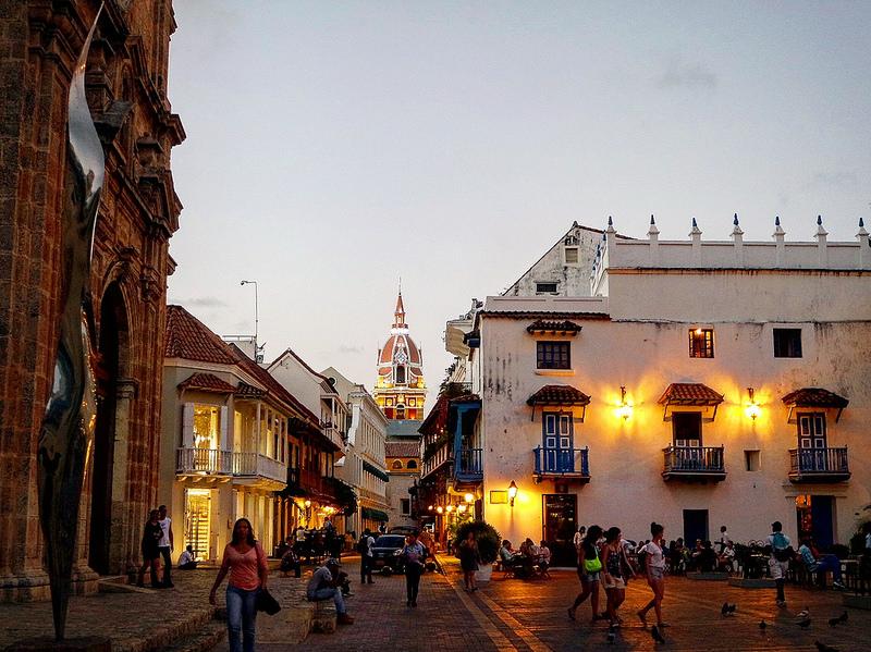 Cartagena de Indias, anochecer