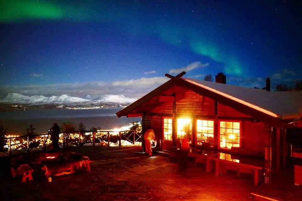 Pequeña aurora en Narvik