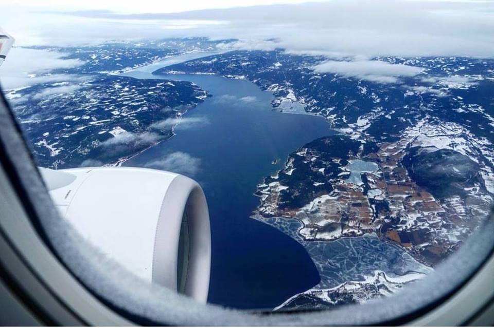 Sobrevolando Noruega