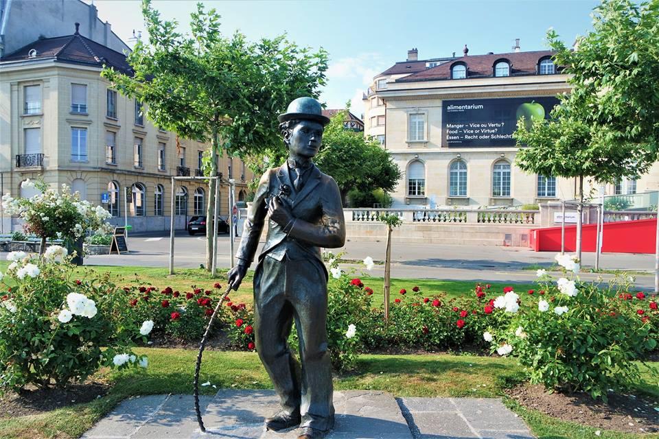 Charles Chaplin, seis días en Suiza, de Basilea al lago Lemán