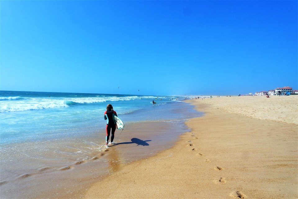 Playa de Hossegor, surf en Las Landas, Francia