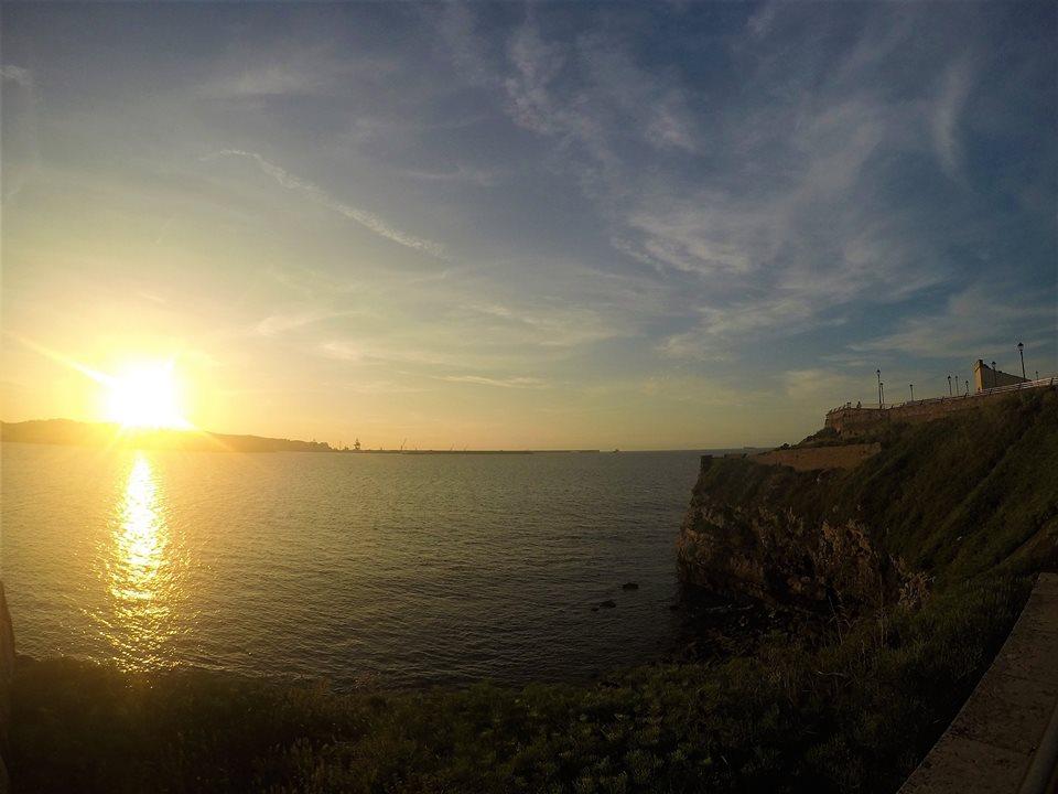 Atardecer en Gijón, Camino del Norte