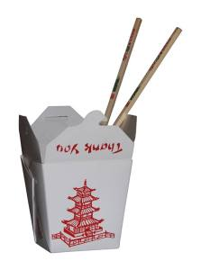 Caja con comida china