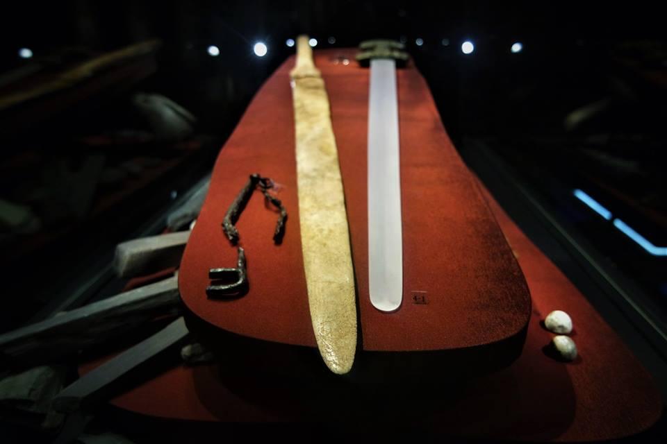 Espadas, museo Vikingo de las islas Lofoten en Noruega