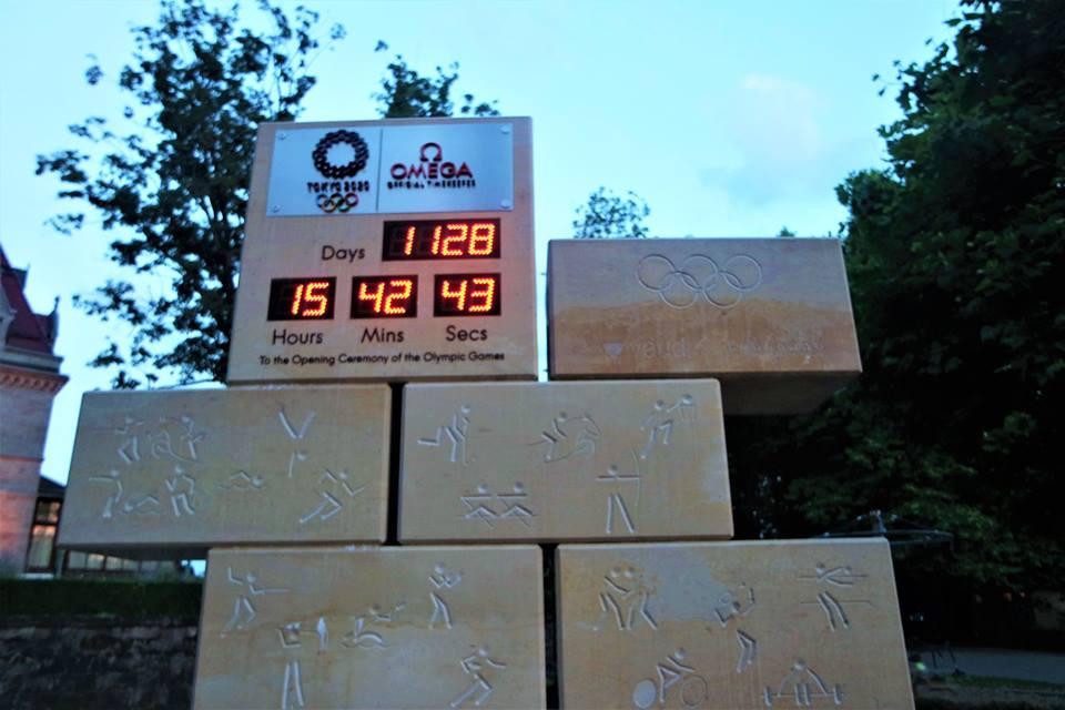 Reloj con la cuenta atrás para los Juegos Olímpicos