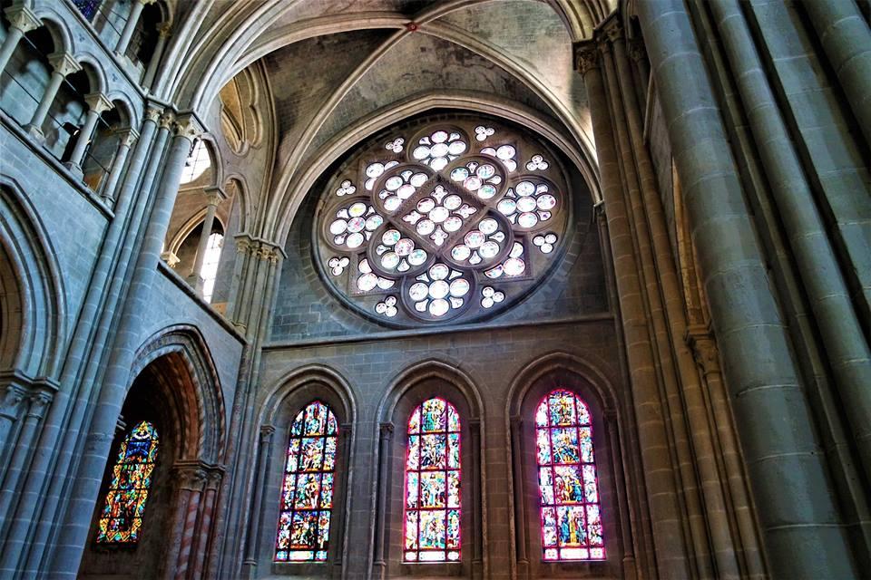 Rosetón, catedral de Lausanne