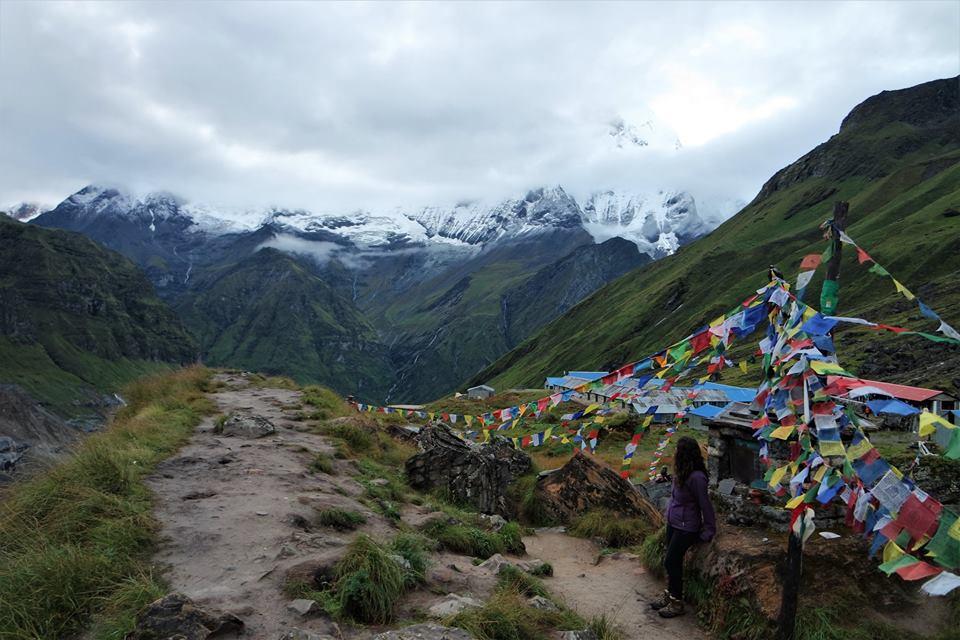 El Machapuchre desde el Santuario del Annapurna