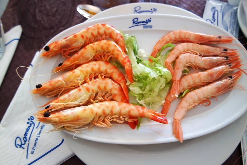 Gambas de Romerijo, dónde comer en El Puerto