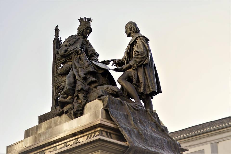 Reina Isabel la Católica con Colón