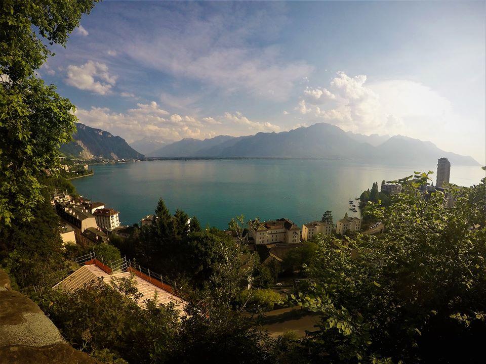 Vistas de Montreux desde la iglesia