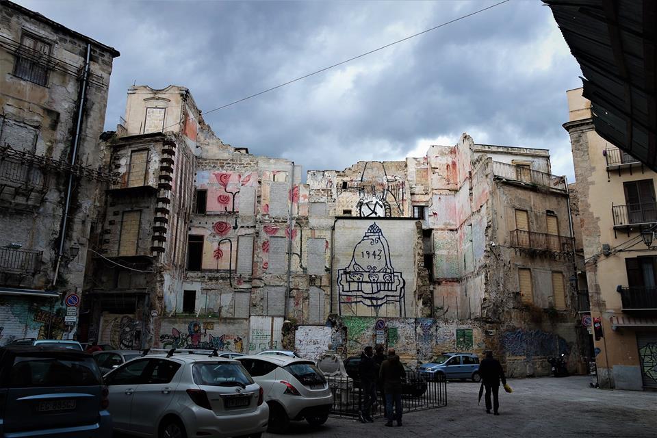 Edificio bombardeado en 1943