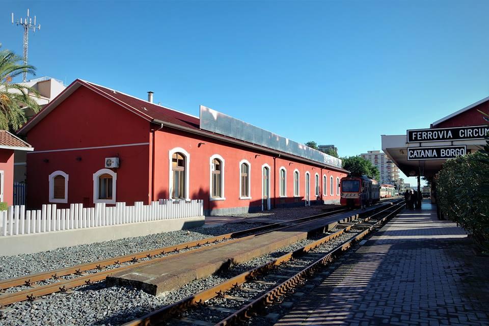 Estación de Catania Borgo, donde parte la ruta el Etna en tren