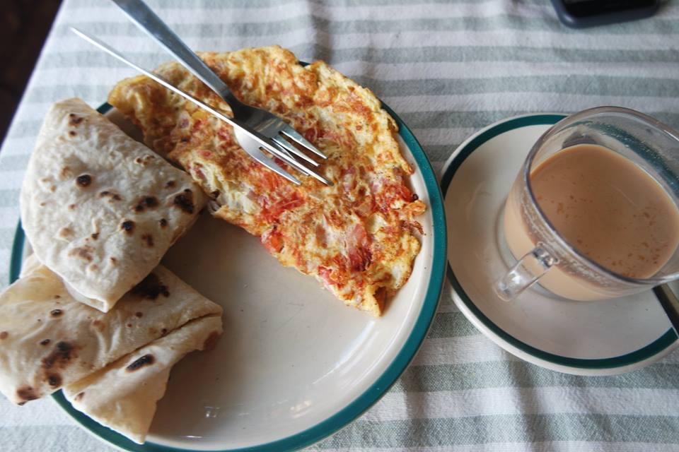Desayuno en Nepal