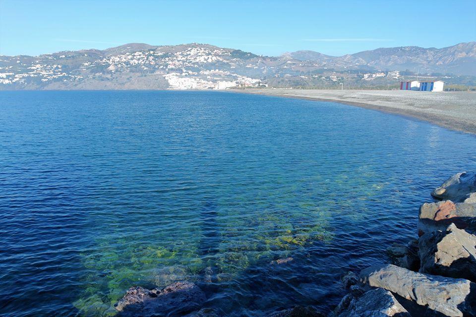 Mar Mediterráneo, playas de Salobreña