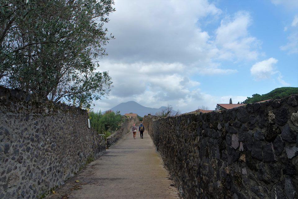 El Vesubio desde Pompeya
