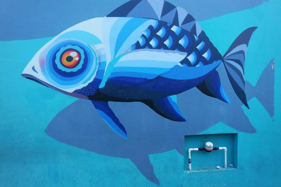 El pez azul, Playa del Carmen