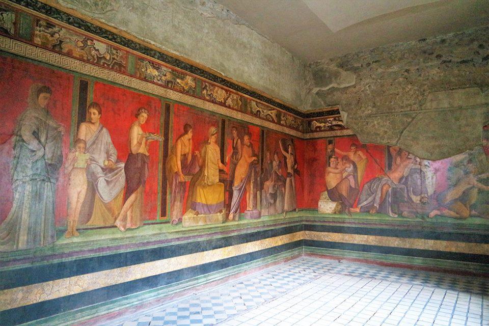 Frescos de la Villa de los Misterios, Pompeya