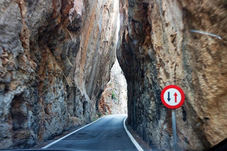 Carretera para ir a Sa Calobra, Mallorca