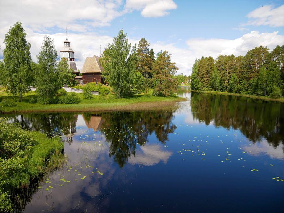 La vieja iglesia dePetäjävesi