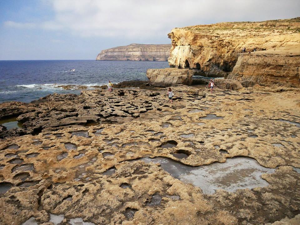 Lo que queda de la Azur Window en Gozo, Malta