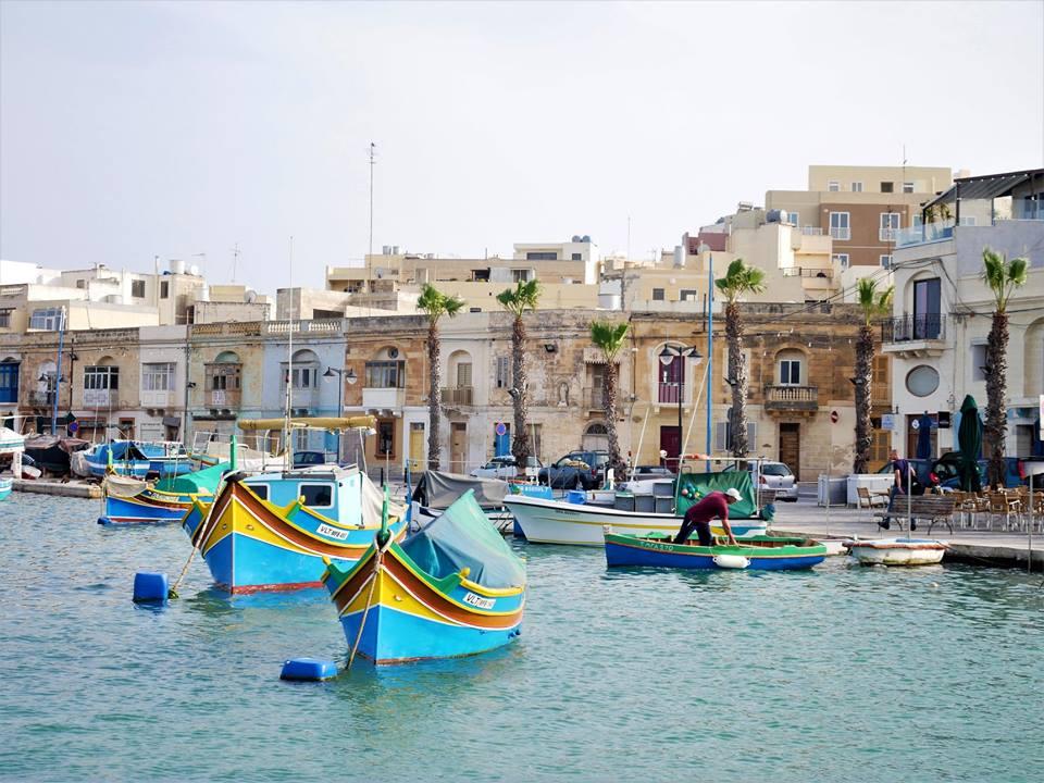 Marsaxlokk, pueblo de pescadores de Malta