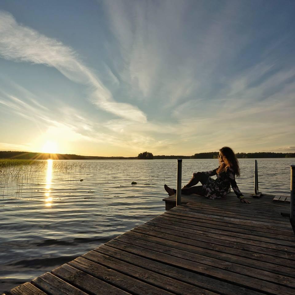 Verano en la Región de los Mil Lagos de Finlandia