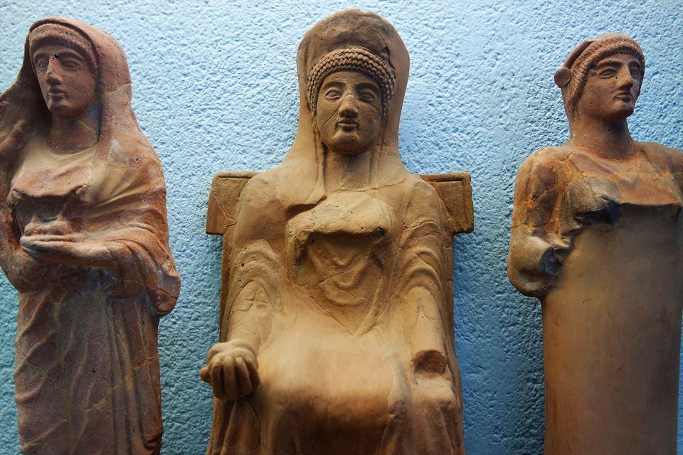Figuras griegas, museo de Paestum