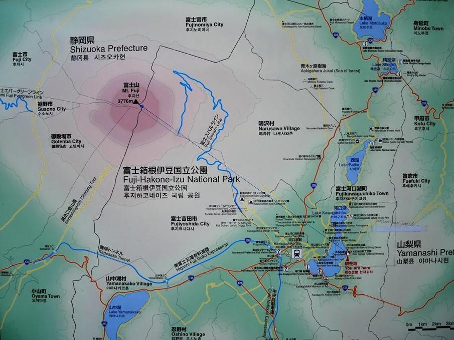 Mapa del monte Fuji