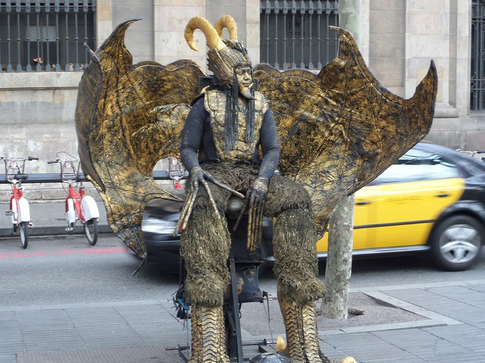 Artistas callejeros, las Ramblas de Barcelona