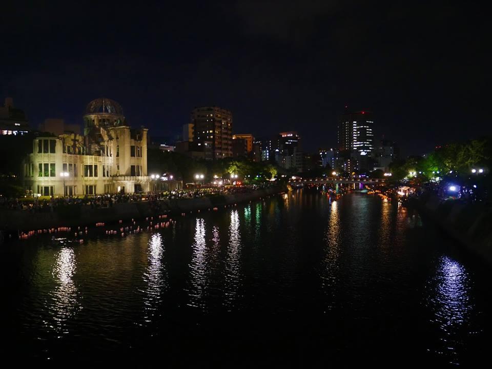 Noche del 6 de agosto en Hiroshima