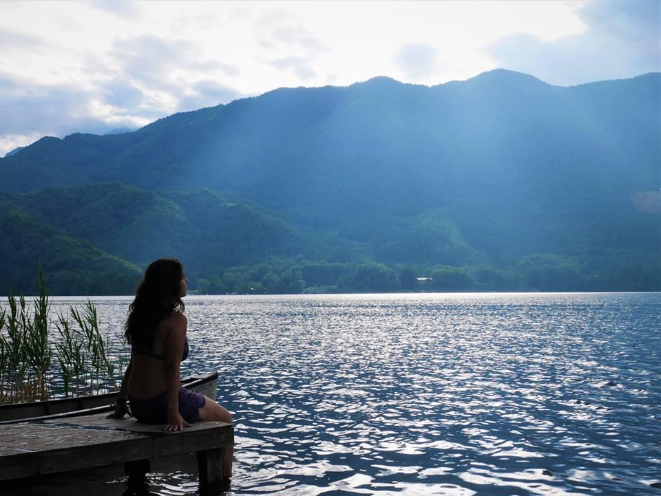 Atardecer en el lago Aoki