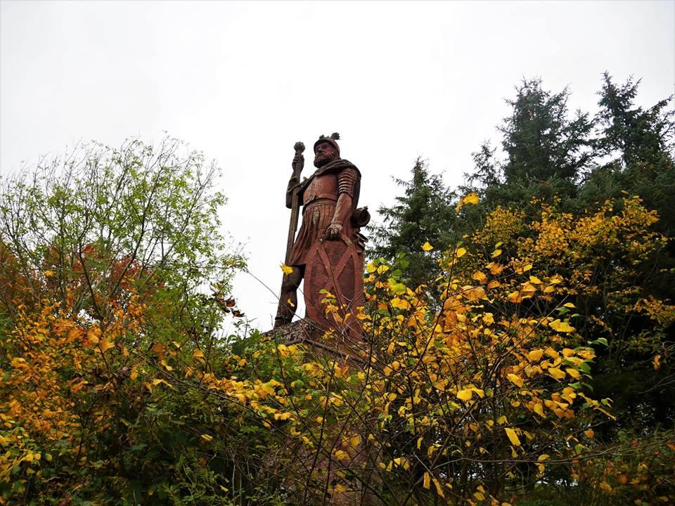 Estatua de William Wallace en el sur de Escocia